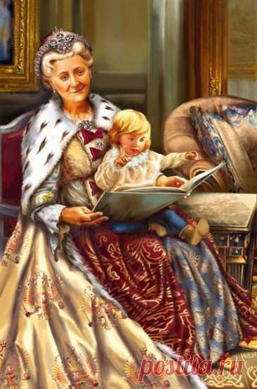 """Из инструкции по воспитанию внуков, написанной Екатериной II """"Никаких перин — только закаливание. Едой не пичкать, за столом кормить ровно столько, сколько требует организм, а в качестве «перекуса» между приёмами пищи — давать только чёрный хлеб. Зато игр — сколько угодно, ведь «детские игры не суть игры, но прилежнейшее упражнение детей». Принципы воспитания Екатерины II были поистине революционны, а читать их интересно и в наши дни. В 1784 г. Екатерина II составила подробную…"""