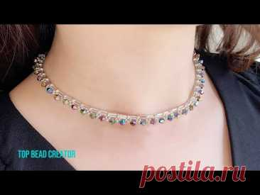 How to make beaded necklace, DIY Necklace making tutorial