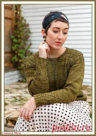 Джемпер Izumi от дизайнера Natalie Selles Модель из журнала POM POM QUARTERLY №20 2017 #knitting #вязание_спицами #джемпера_спицами