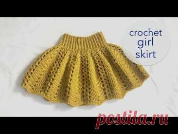 Crochet girl skirt 2020 - size app. 9 month - 3 years
