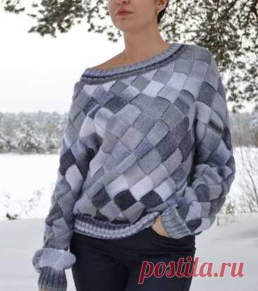 Женский свитер в технике энтерлак - Klubok.ru.com