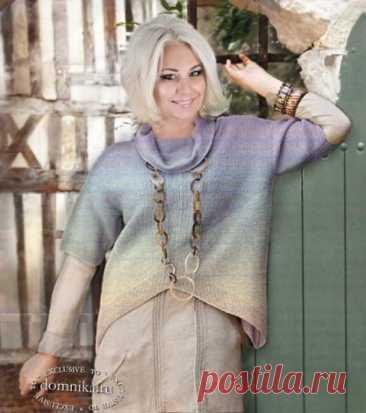 Модные пуловеры для пожилых - современные модели для женщин 60 лет