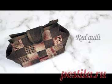 Оригинальная лоскутная сумка, пэчворк