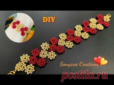 Valentine Heart Bracelet ❤️|| How to make Beaded Bracelet || Beading Tutorial