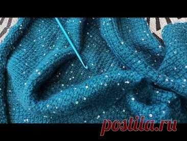 Тунисское вязание затянуло\\Теперь  не хочу жилетку. вязать спицами....