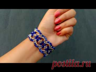 Crystal Cuff Bracelet//Beaded Bracelet Making How To// Useful & Easy