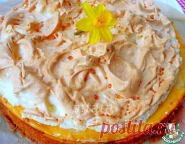 Творожно-сливочный пирог с безе – кулинарный рецепт