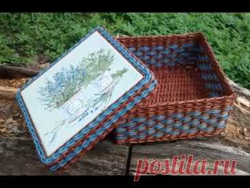 #4 Плетение из Газет・🌾Корзина в стиле Прованс・👩Мастер Класс с Ниной