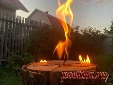Сделал финскую «свечу». Красивый вариант для романтического вечера на даче. Показываю, как сделать и как горит   Штуки из труб   Яндекс Дзен
