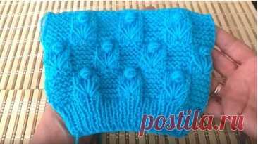 Красивое сочетание узоров подойдет для вязания детского пледика и многих других изделий. Вяжется просто и легко.