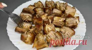 Показываю, что готовлю из свиной грудинки: получается так вкусно, что мясо аж тает во рту | Вкусная Жизнь | Яндекс Дзен