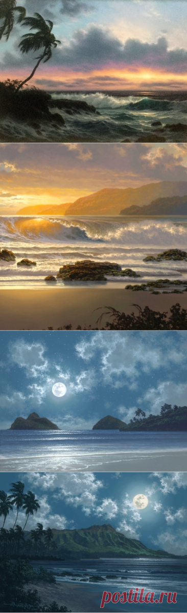 Sea landscapes of the artist of Roy Tabora
