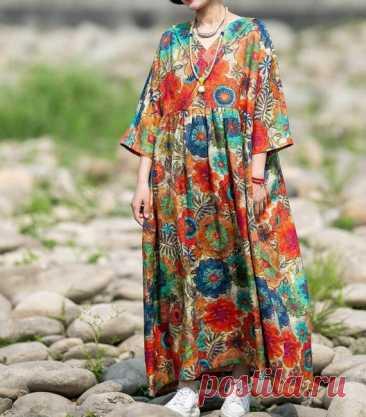 Linen Maxi dress plus size dress long Flare Dress boho maxi | Etsy 【Fabric】 Linen 【Color】 Photo Color 【Size】 M; Shoulder width is not limited Bust 130cm / 50  Shoulder sleeve length 49cm / 19 Cuff circumference 24cm / 9  Length 121cm / 47   L; Shoulder width is not limited Bust 140cm / 54 Shoulder sleeve length 51cm / 20  Cuff circumference 25cm / 10  Length 131cm