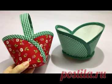 Как сшить красивую сумку-корзину из ткани / Различные техники шитья / Сумка своими руками