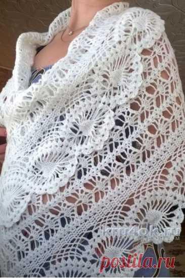 Палантин крючком #crochet #вязание_крючком #шарфы_крючком