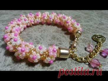 Beaded bracelet/Daisy bracelet/Браслет из бисера/Браслет своими руками