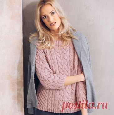 Нежно-розовый джемпер - Lilia Vignan