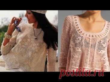Филейное вязание крючком - Sirloin Crocheting - YouTube