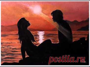 Как нарисовать закат акрилом.  Как рисовать море. Рисунки для срисовки