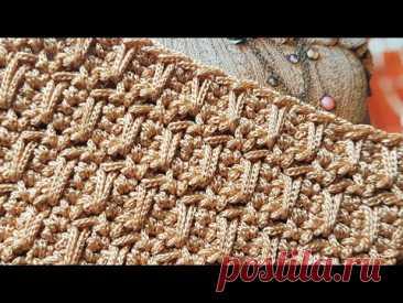 Вяжем стильный и плотный узор крючком для сумок 👜 crochet pattern.