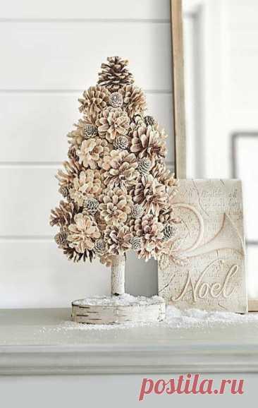 Чудесные новогодние украшения из шишек своими руками   Конфитюр   Яндекс Дзен