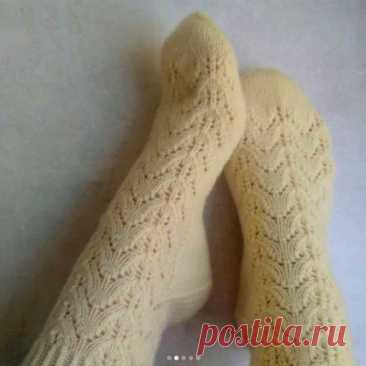 Бесплатное описание красивых ажурных носочков (Вязание спицами) – Журнал Вдохновение Рукодельницы
