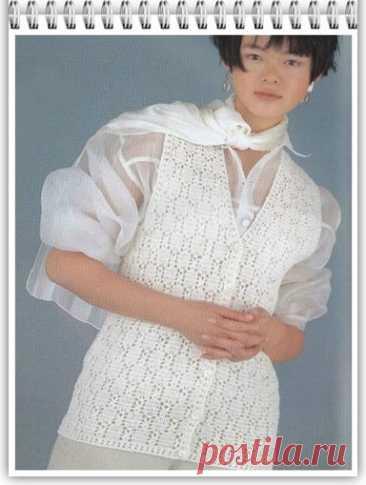 Простой узор крючком, для вязания жилета (28)