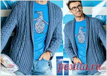 Элегантные и стильные мужские кардиганы спицами, которые подойдут не только мужчинам | Paradosik_Handmade | Яндекс Дзен