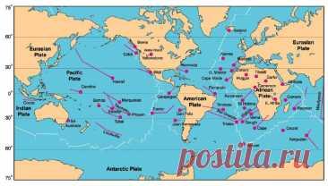 Карта вулканов мира онлайн: извержения и активность /  Путь экстрима и выживания в дикой природе и городе
