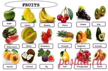 Фрукты и ягоды на английском. Учим названия и фразы