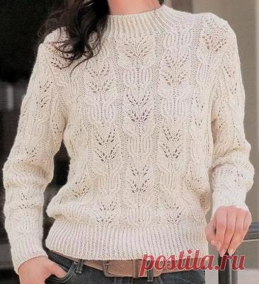 Вяжу свитер из остатков пряжи🧶. Часть №2 подборки ажурных моделей✨. | Мама-универсал | Яндекс Дзен