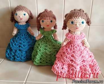 Кукла-шкатулка крючком | Вязаные игрушки.