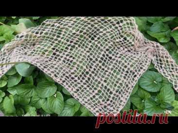 МК.Вяжем нежнейший платок(шаль) крючком