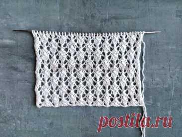 Простой мелкий ажурный узор спицами для вязания джемперов, палантинов, косынок | Вязание спицами CozyHands | Яндекс Дзен