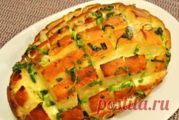 Луковый хлеб с сыром. Вкусная выпечка из простых продуктов