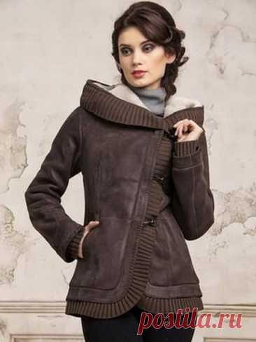 Идеи пальто и курток в сочетании с вязаным трикотажем #детали_кроя #идеи_кроя #детали_моды #мода_в_деталях