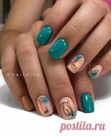 Маникюр №5076 - фото дизайна - Best Маникюр Маникюр №5076 - самые красивые фото дизайна ногтей. Идеи рисунков на ногтях на любой вкус. Будь самой привлекательной!