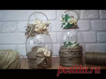 4 Идеи для подарка из джута/Шкатулки-Игольницы своими руками/Пластика из джута/evadusheva