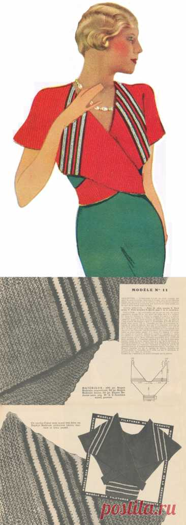 Накидка-кофта спицами