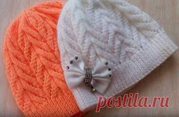 Детская шапочка спицами – ОЧЕНЬ ПРОСТО! (Вязание спицами) – Журнал Вдохновение Рукодельницы
