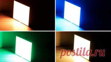 Светодиодная установка разноцветных световых эффектов без программирования своими руками Данная светодиодная установка имеет очень небольшие размеры и мощный световой поток. Умещается в кармане, работает от встроенного аккумулятора, заряжается от любого USB выхода. Если у вас случилась небольшая вечеринка с танцами и плясками, то сделать эффектную подсветку поможет это небольшое