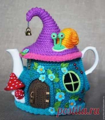 Вяжем традиционный предмет русского быта - грелку на чайник