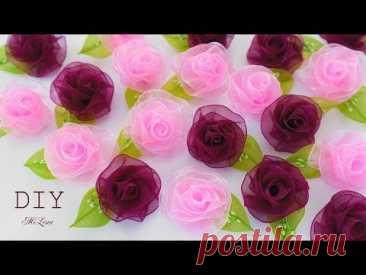 РОЗА ЗА 1 МИНУТУ, МК / DIY One Minute Rose