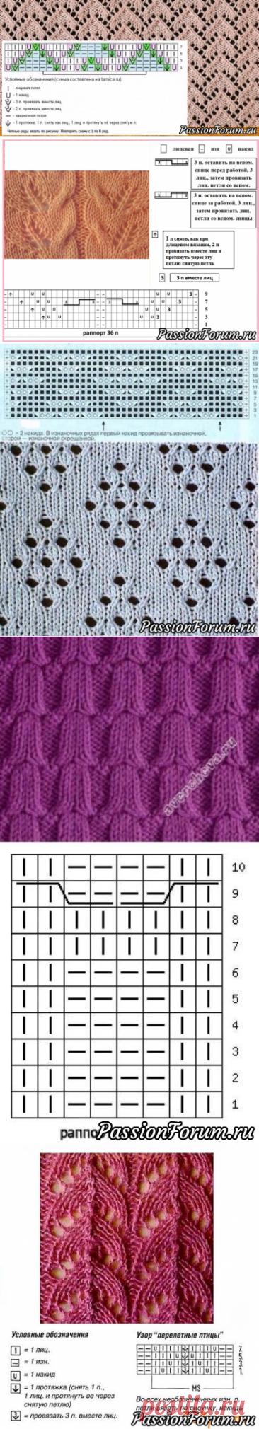 Узоры спицами | Вязание спицами для начинающих
