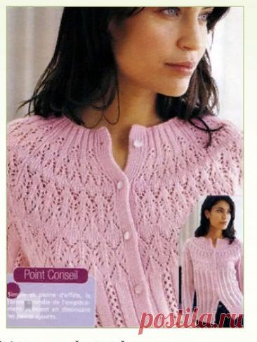 La blusa con la coqueta chiné por los rayos
