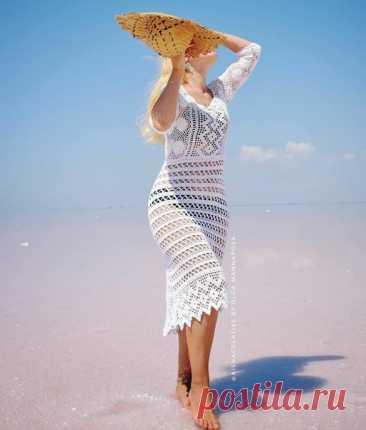#вязаное_платье@modnoe.vyazanie Платье. Схема.