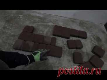 Укладка тротуарной плитки на клей