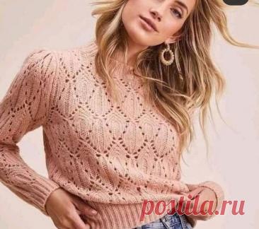 5 самых красивых вязанных топов и пуловеров | Копилка узоров (Вязание спицами) | Яндекс Дзен