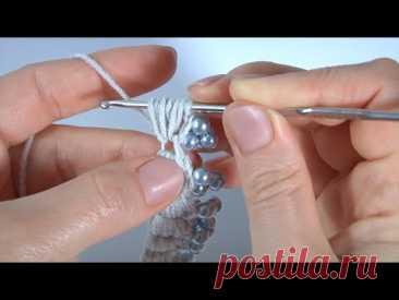 СУПЕР простой ШНУР с БУСИНАМИ и без/Использовать можно ВЕЗДЕ/Вязание крючком/Пышные столбики