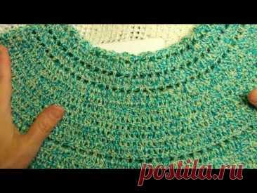 """Круглая КОКЕТКА """"МИКС"""" по схеме , Вязание КРЮЧКОМ crochet blouse ( В № 240)"""